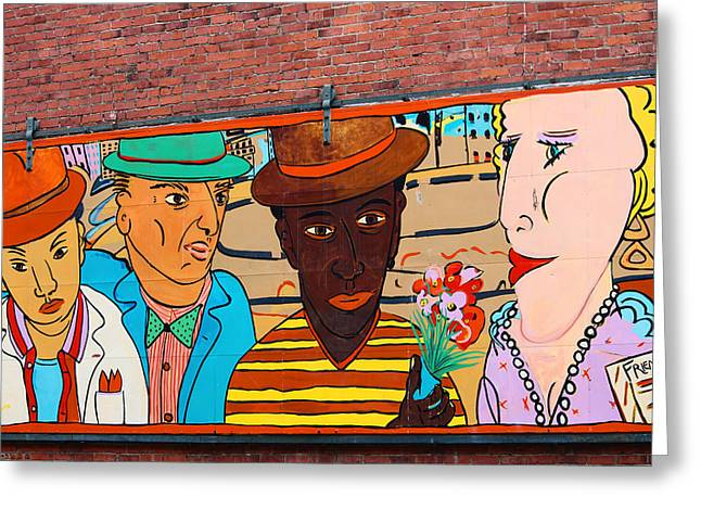 Mural Wall Art In Seattle Greeting Card by Kym Backland