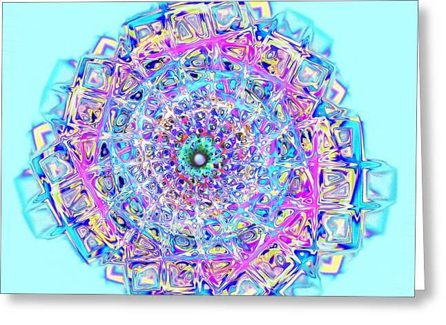 Murano Glass - Blue Greeting Card by Anastasiya Malakhova