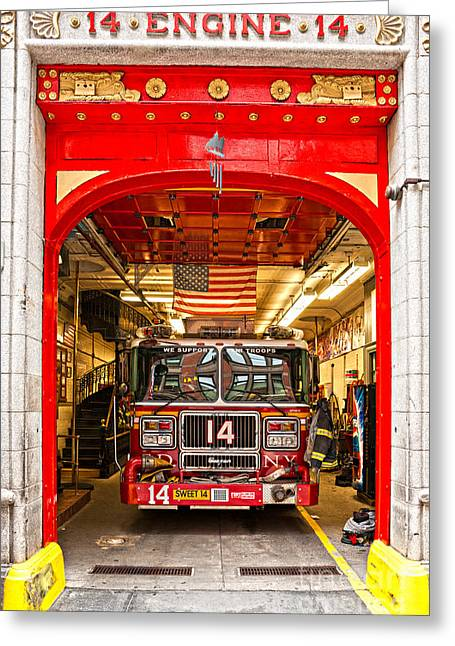 New York Fire Department Engine 14 Greeting Card