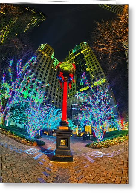 Nightlife Around Charlotte During Christmas Greeting Card
