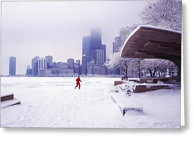 North Ave Beach Chess Palv Chicago Lake Front  Greeting Card