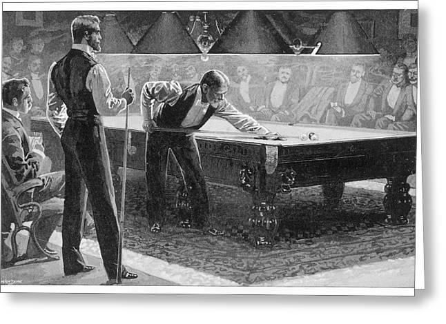 Billiard ball greeting cards page 4 of 8 fine art america nursing the balls date 1896 greeting card m4hsunfo
