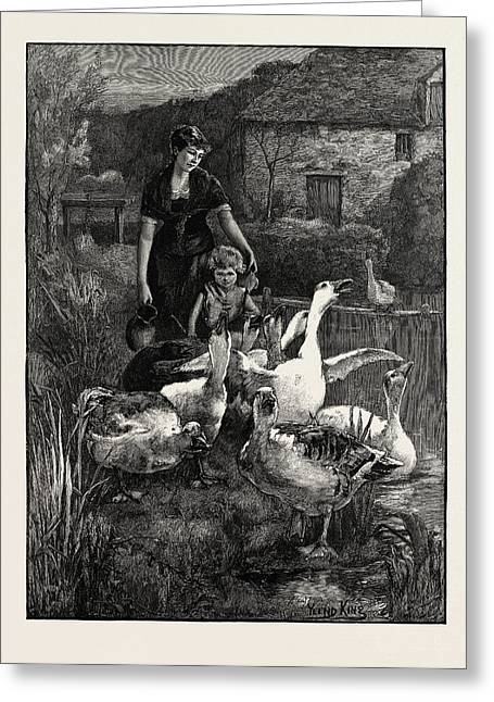 Obstructionists  From The Picture By Yeend King Greeting Card by Litz Collection