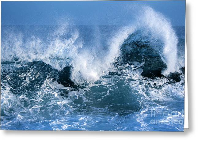 Ocean Wave Greeting Card by Boon Mee