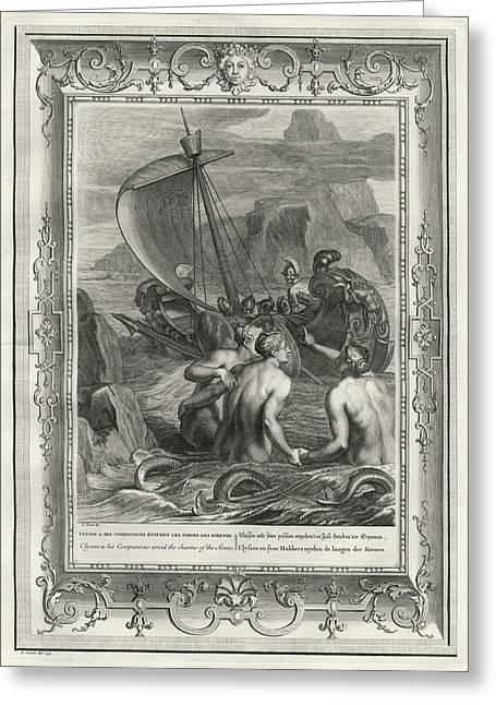 Odysseus And His Companions Avoid Drawing by Mary Evans