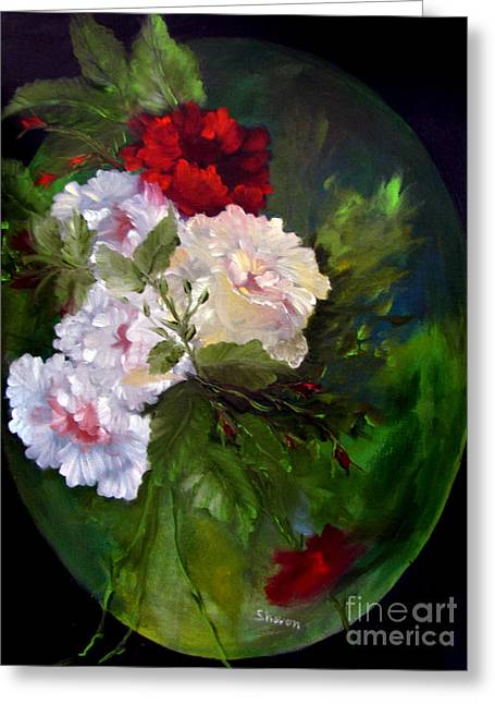 Of Rhapsodies And Roses Greeting Card by Sharon Burger
