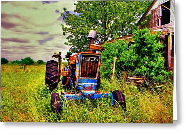 Old Ford Tractor Greeting Card by Savannah Gibbs