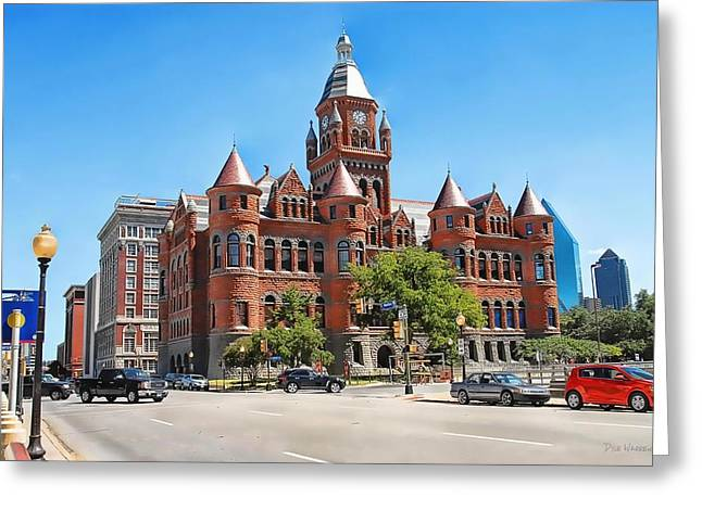 Greeting Card featuring the photograph   Old Red Museum - Dallas  by Dyle   Warren