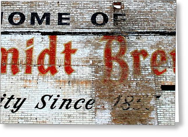 Old Schmidt Brewery  Greeting Card