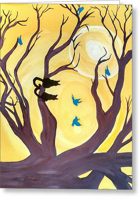 On A Limb Greeting Card by Tammy Cote