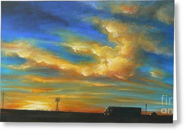 On Route 66 To Amarillo Greeting Card