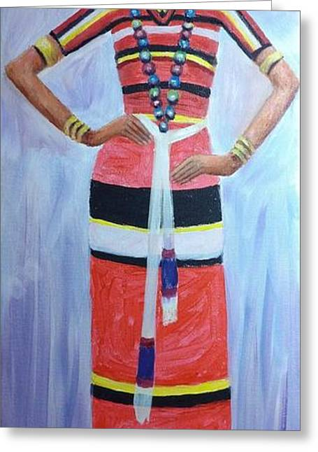 Oromo Lady Greeting Card