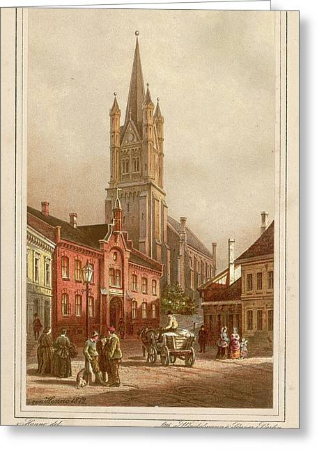 Oslo (formerly Christiania)  Street Greeting Card by Mary Evans Picture Library