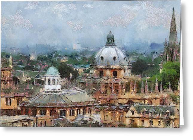 Oxford Panorama Greeting Card