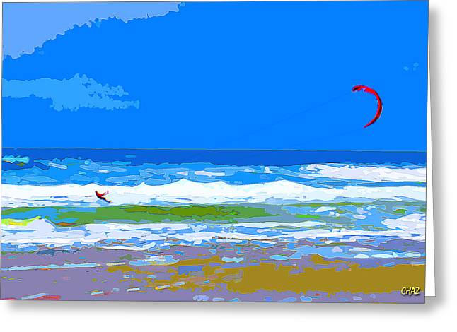 Para-surfer 2p Greeting Card by CHAZ Daugherty