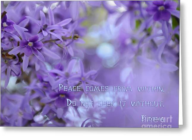 Peace Comes From Within Greeting Card