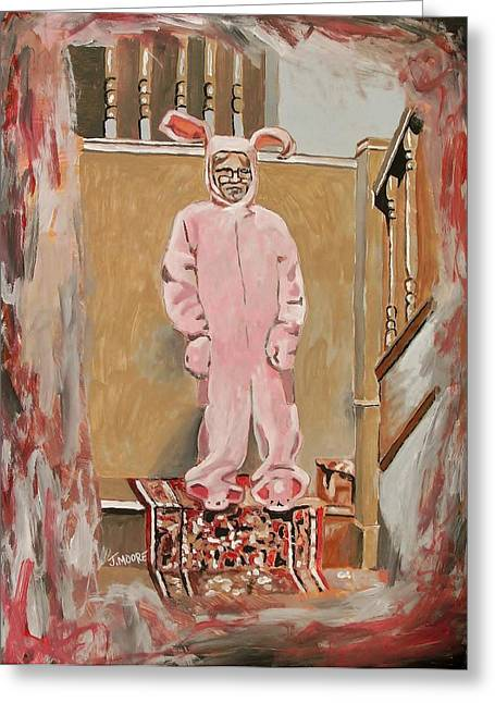 Pink Nightmare Greeting Card by Jeremy Moore
