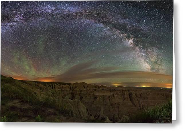 Pinnacles Overlook At Night Greeting Card