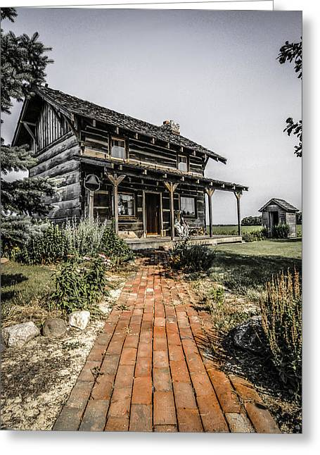 Pioneer Farmhouse Greeting Card
