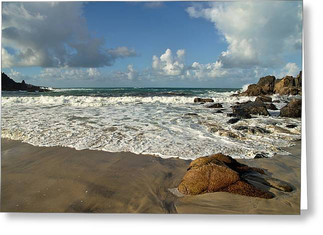 Porthmeor Cove In North Cornwall Greeting Card