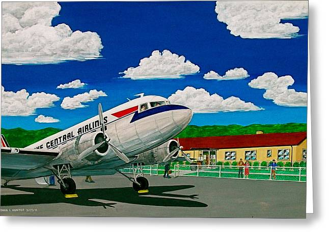 Portsmouth Ohio Airport And Lake Central Airlines Greeting Card