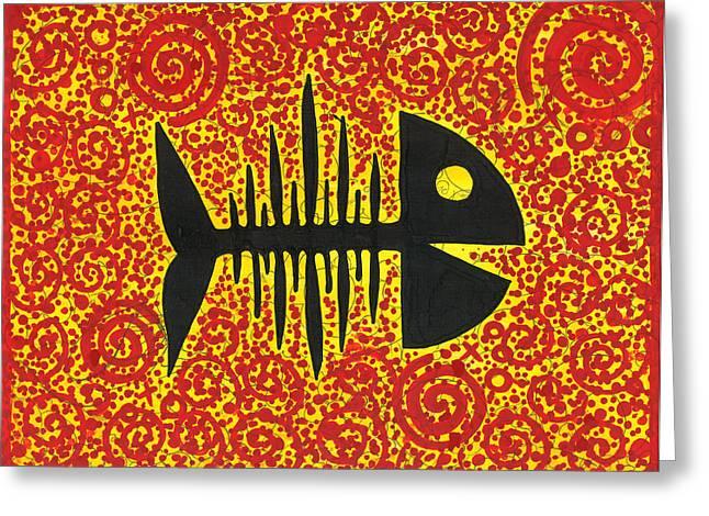 Psycho Fish Greeting Card
