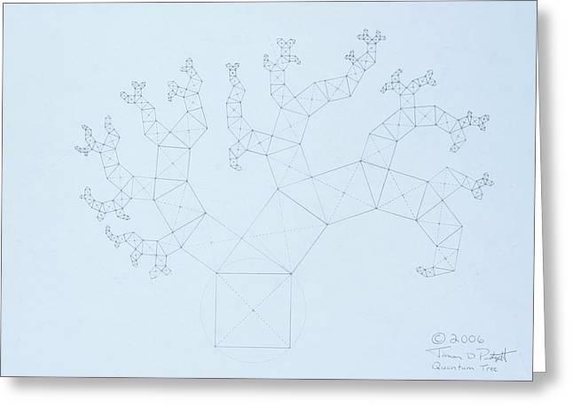 Quantum Tree Greeting Card by Jason Padgett