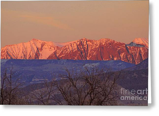 Radiant Ragged Mountain Evening Co II Greeting Card