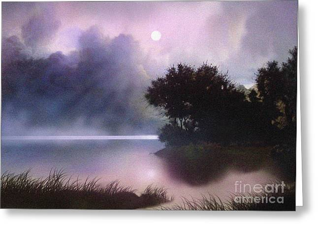 Rain Lake Greeting Card by Robert Foster