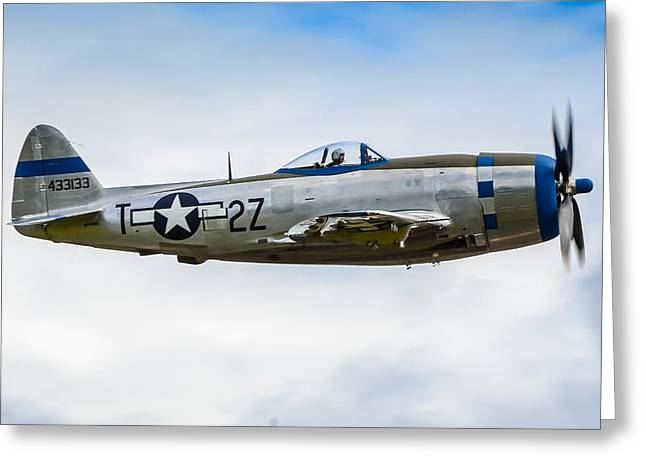 Republic P-47d Thunderbolt Greeting Card by Puget  Exposure