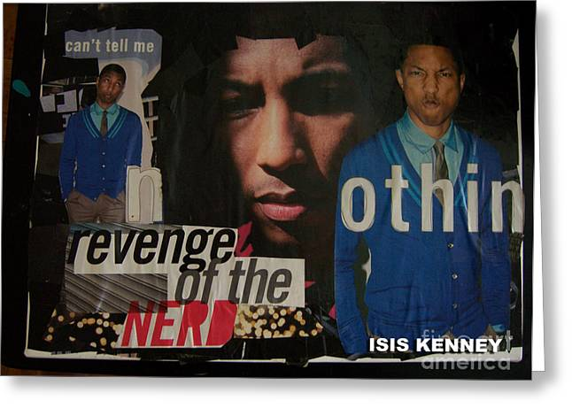 Revenge Of The Nerd Pharrell Williams Greeting Card by Isis Kenney