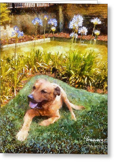 Greeting Card featuring the painting Alameda Rufus by Linda Weinstock