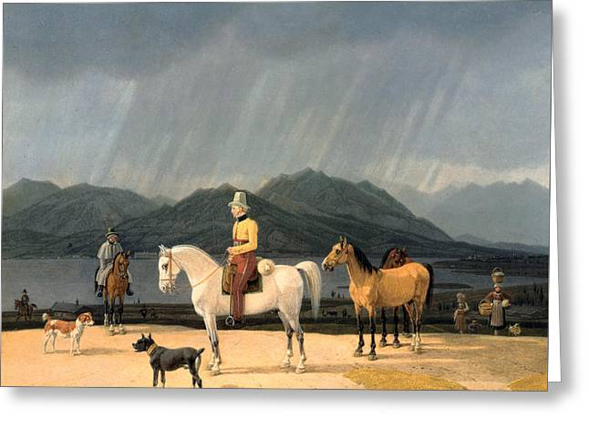Riders At The Tegernsee Greeting Card