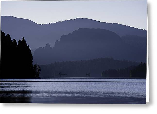 Rimrock Lake Greeting Card by Gary Neiss