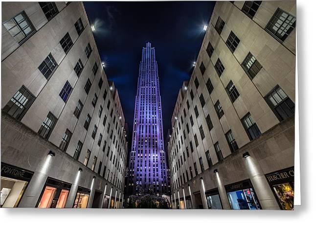 Rockefeller Center - New York - New York - Usa 4 Greeting Card by Larry Marshall