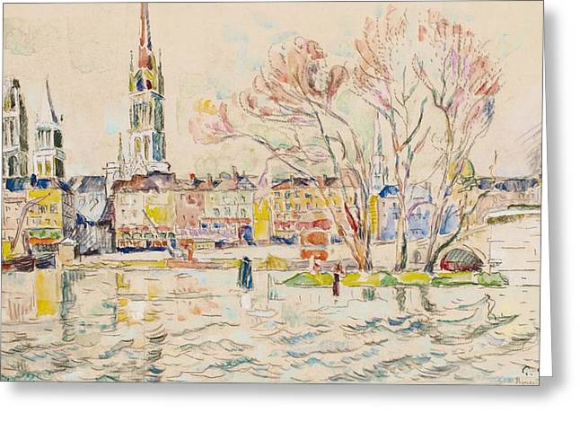 Rouen Greeting Card by Paul Signac