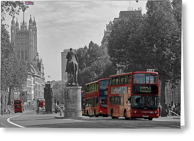 Routemaster London Buses Greeting Card