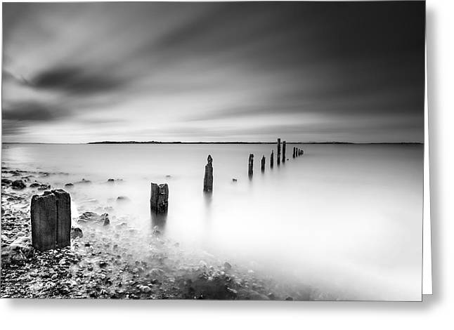 Seasalter In Mono Greeting Card by Ian Hufton