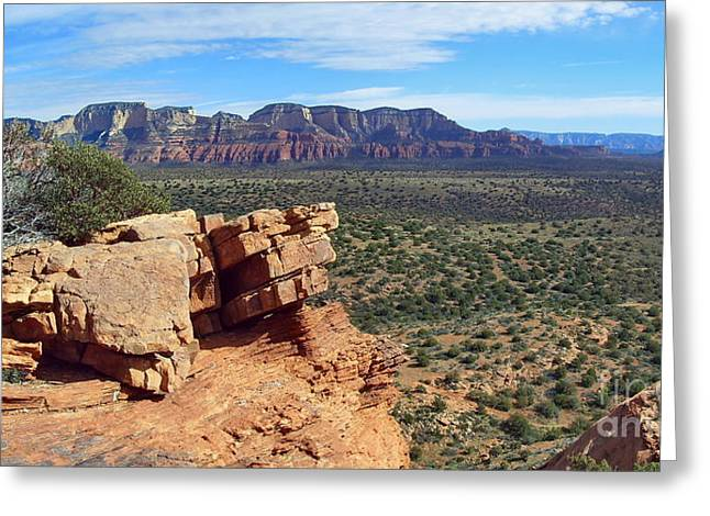Sedona View From Roober Roost Greeting Card by Sin D Piantek