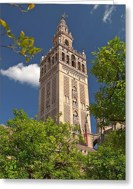 Seville Cathedral Belltower Greeting Card by Viacheslav Savitskiy