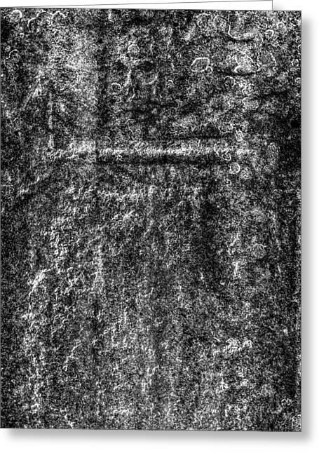 Skull And Crossed  Bone Grave Greeting Card