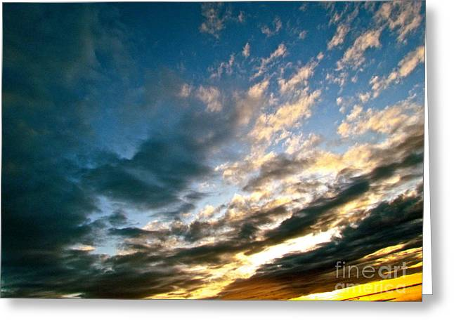 Sky Sings Greeting Card by Q's House of Art ArtandFinePhotography