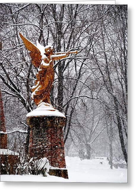 Greeting Card featuring the photograph  Snow Angel by Jacqueline M Lewis