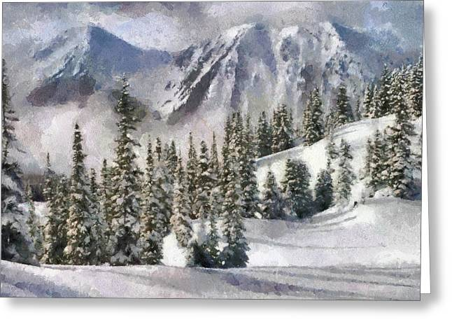 Snow In The Mountains Greeting Card by Georgi Dimitrov