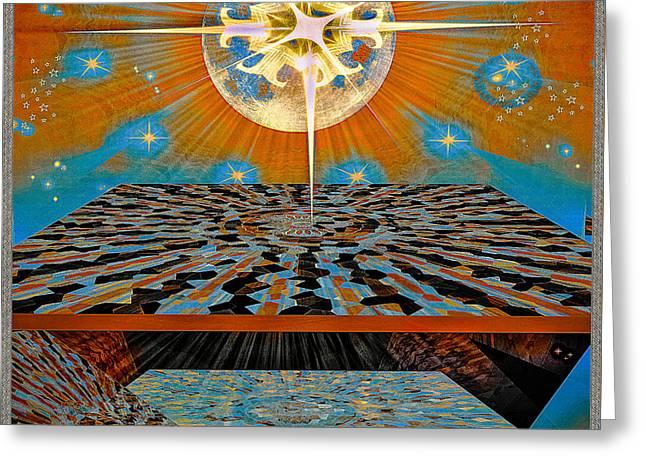 Greeting Card featuring the digital art  Solar Energy by Eleni Mac Synodinos