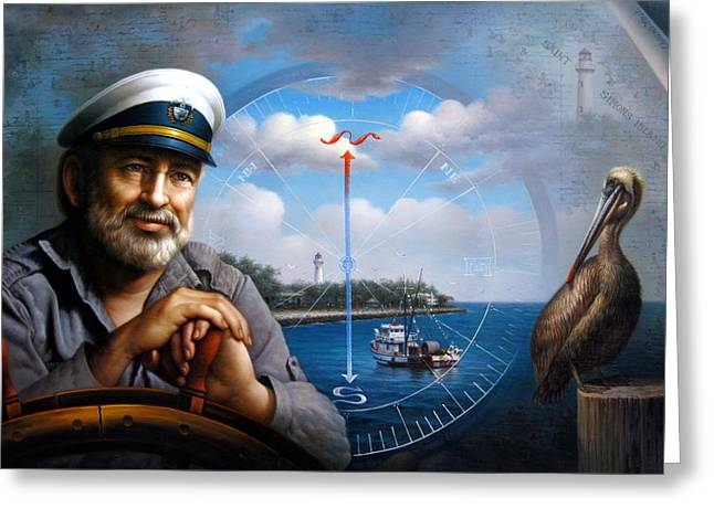 St. Simons Island Sea Captain 5 Greeting Card