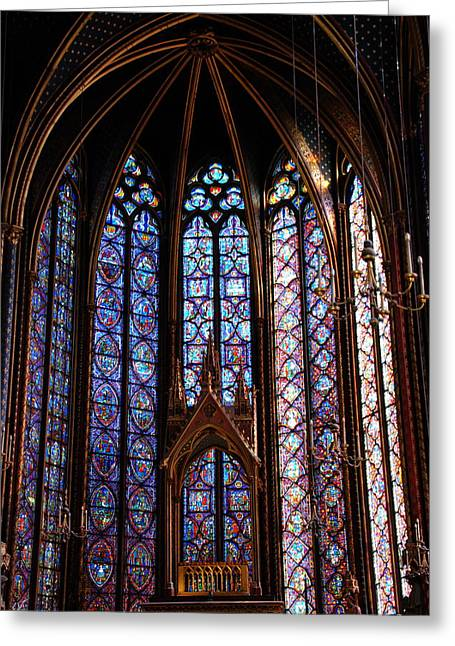 Ste.-chapelle Greeting Card by Jacqueline M Lewis