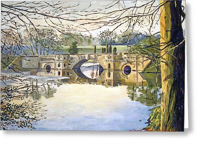 Stone Bridge Greeting Card by David Lloyd Glover