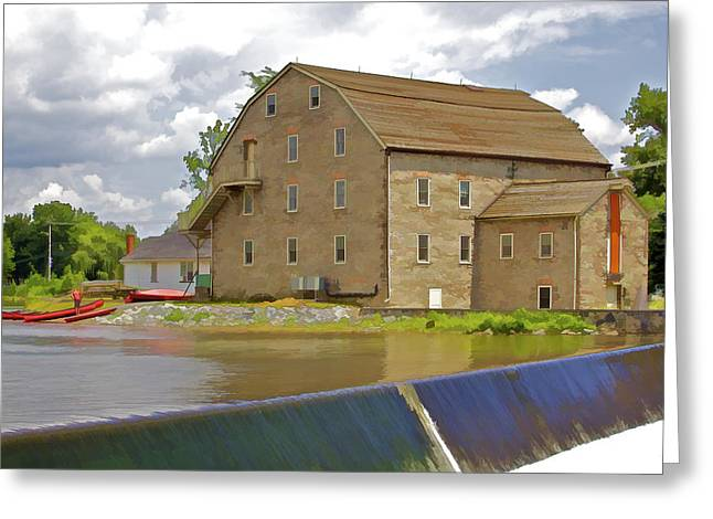 Stone Home On The Rivers Edge Greeting Card by David Letts