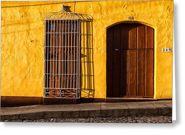 Sunny Yellow Wall Greeting Card